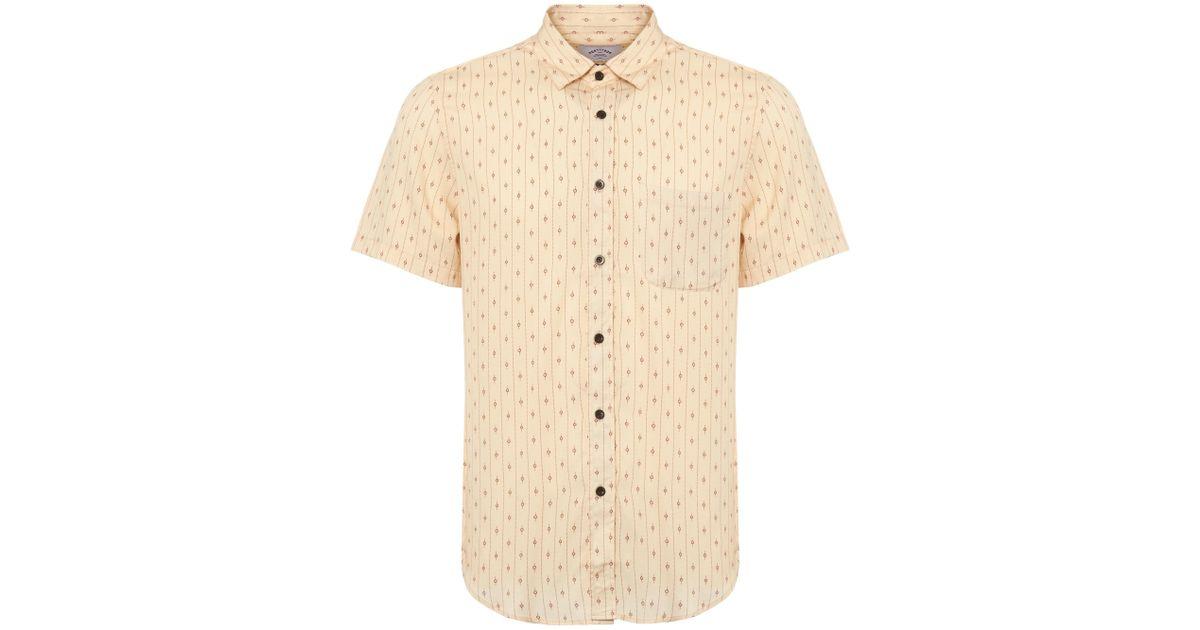 ea2a213bf Portuguese Flannel Cream El Dorado Short Sleeve Shirt in Natural for Men -  Lyst