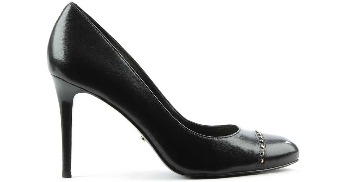 Black Studded Court Shoes