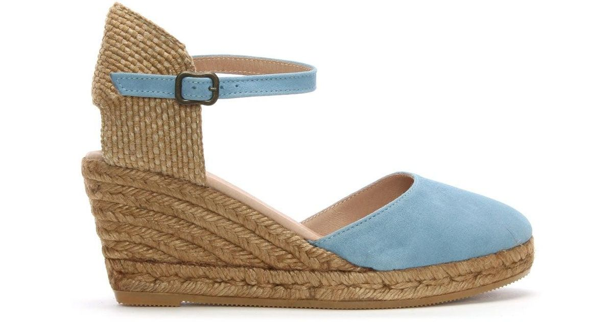 9d5663be592 Daniel Footwear Obi Blue Suede Wedge Espadrilles