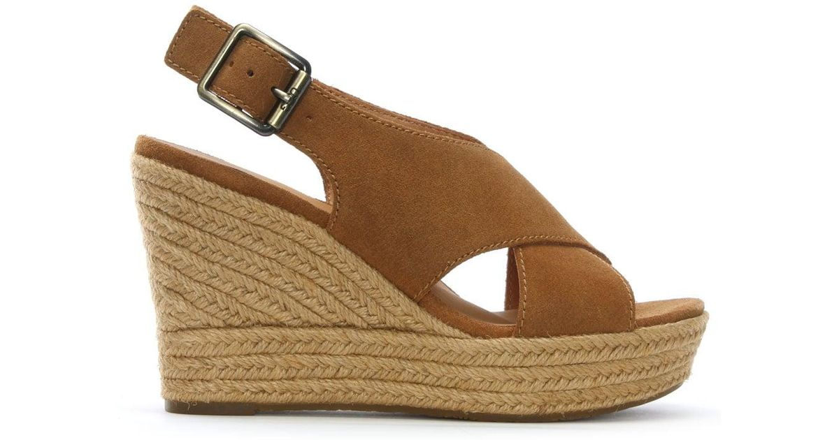229b8412a3d4 Lyst - UGG Harlow Espadrille Wedge Sandal in Brown - Save 28%
