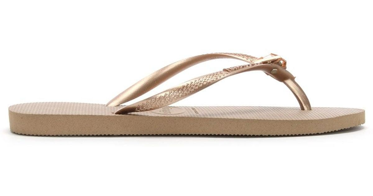 19d11116ae16a0 Havaianas Epic Slim Rose Gold Toe Post Flip Flops in Pink - Lyst