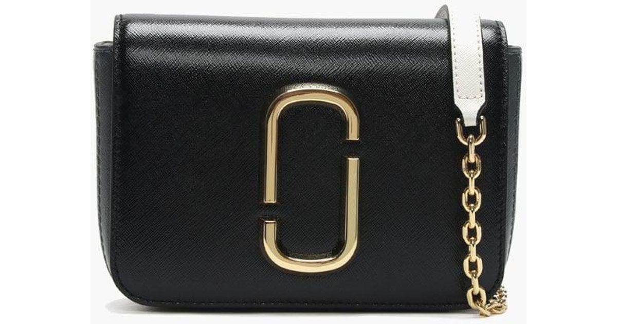 673b72cd873 Marc Jacobs Letter Hip Shot Black Multi Leather Bum Bag in Black - Lyst