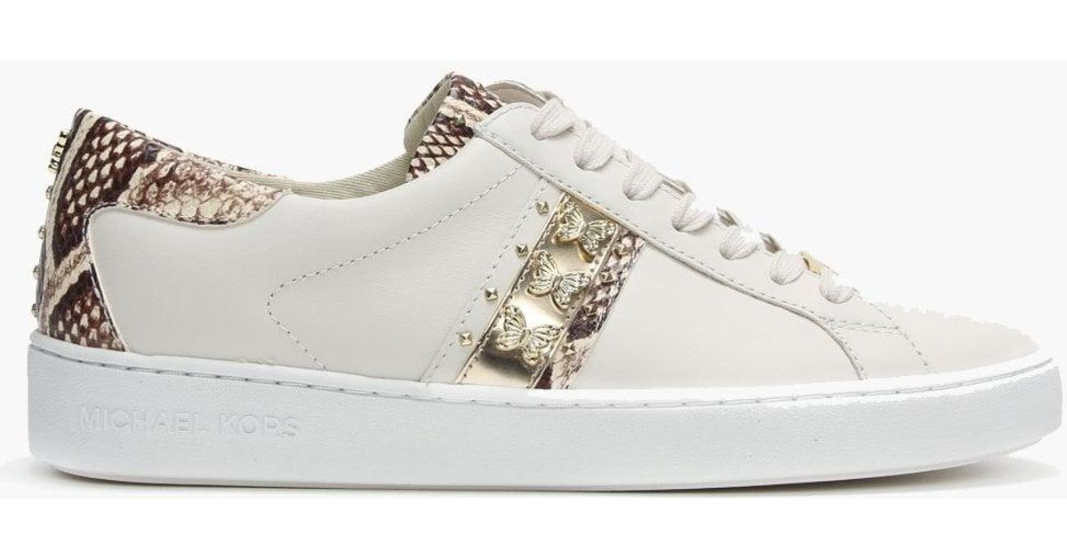Butterfly Keaton Trainers Michael Cream Kors Leather Natural bg76Yfvy