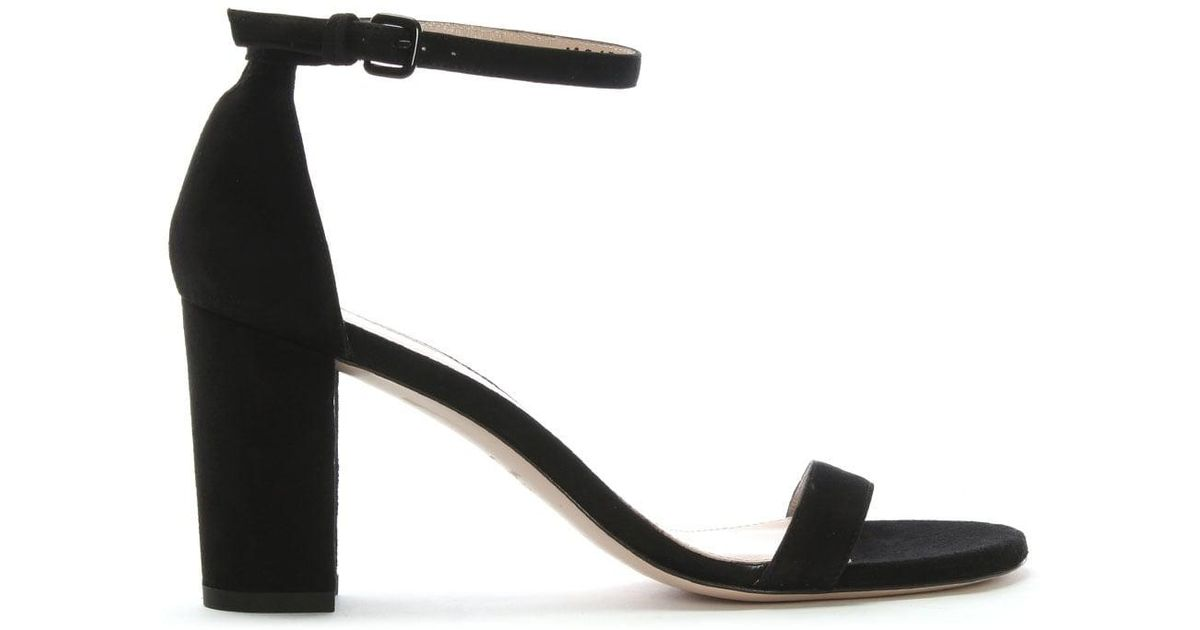Suede Block Heel Sandals - Lyst