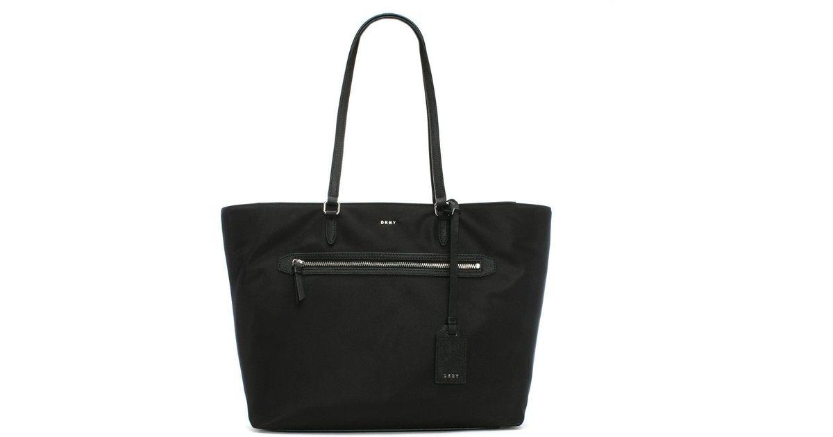 Lyst - DKNY Black Nylon Tote Bag in Black 4d580122f63e7