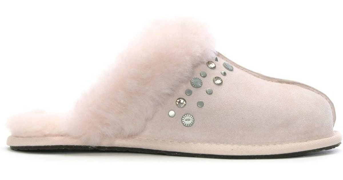 c9a1a9c875f Ugg Pink Womens Scuffette Dusk Studded Bling Slippers
