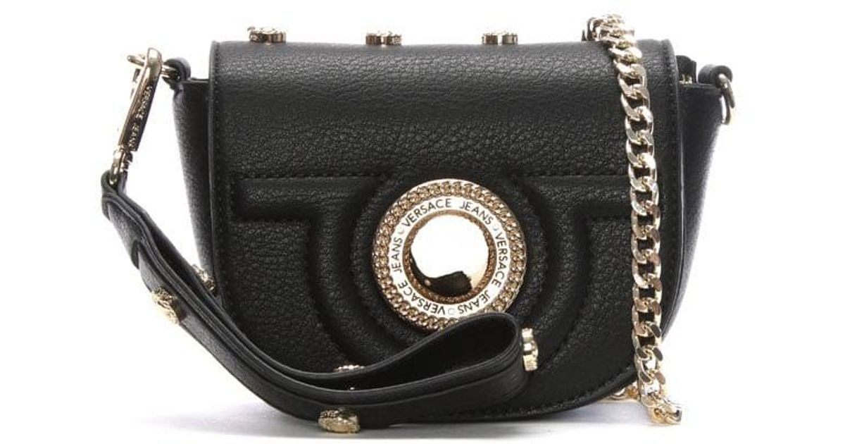 da677a86f9f5 Lyst - Versace Jeans Emily Black Studded Mini Cross-body Bag in Black