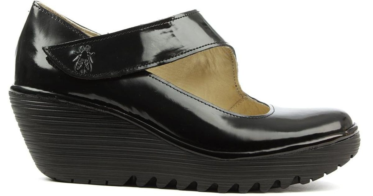 Fly London Yasi Black Patent Leather