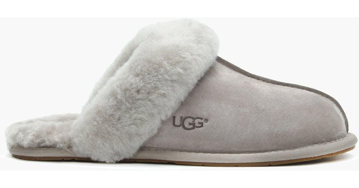 20fab1df3ab Ugg Gray Women's Scuffette Ii Oyster Shearling Slippers