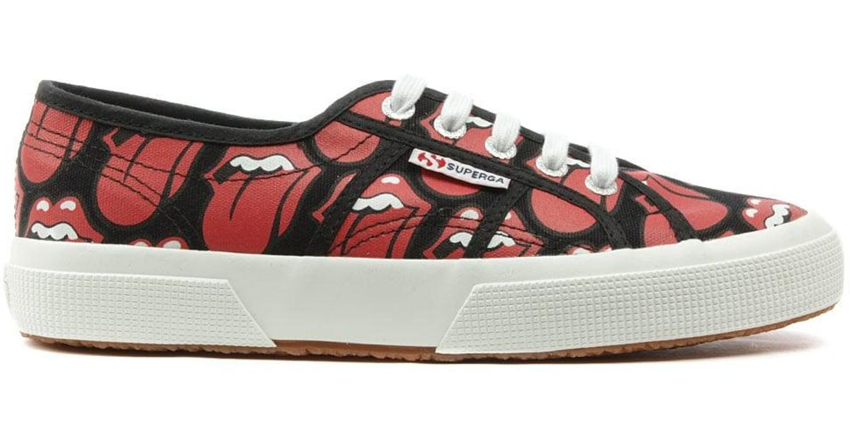 Superga Canvas 2750 Red Rolling Stones