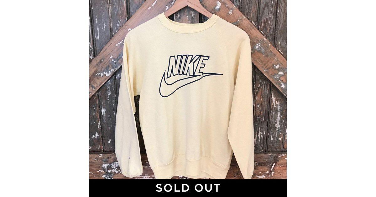 d10c6882b40c Lyst - DANNIJO Vintage Nike Sweatshirt in Natural