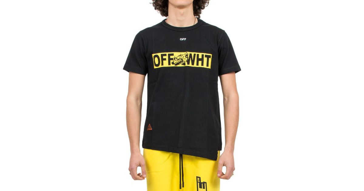 12c8232cc26a Off-White c o Virgil Abloh  moto Spliced  T-shirt in Black for Men - Lyst