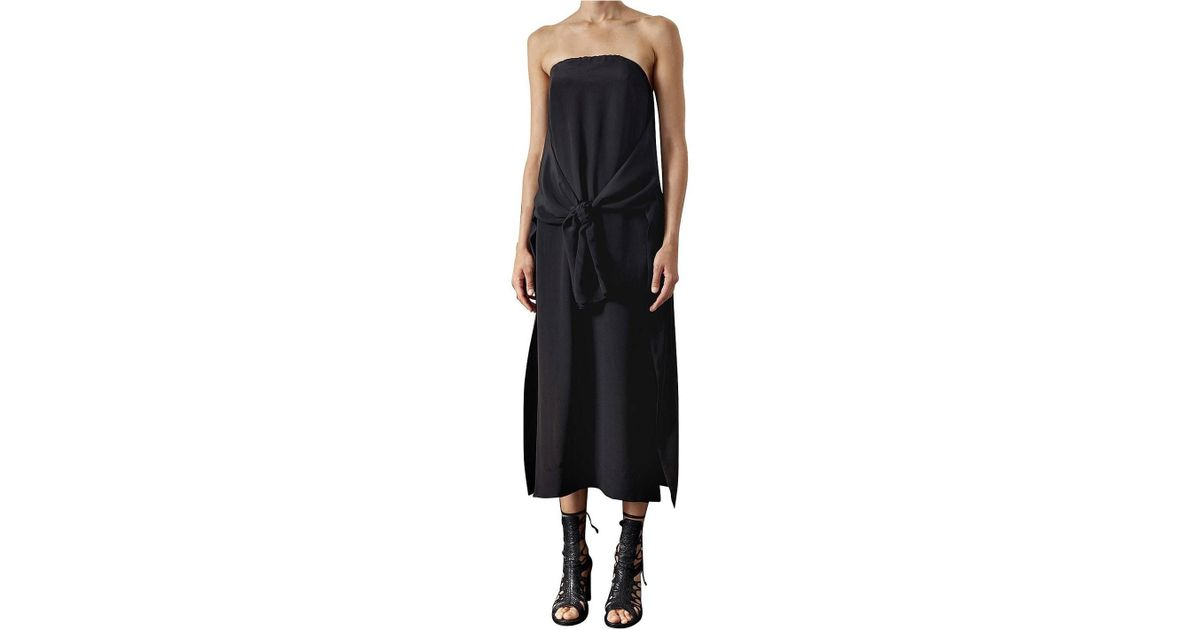 Kitx Black Strapless Split Front Dress