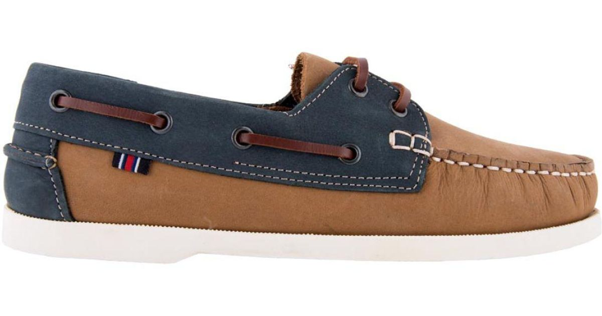 0f6631c9bc519 David Jones Leather Boat Shoes in Blue for Men - Lyst