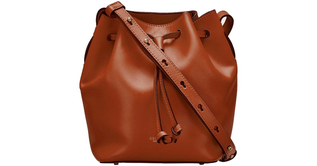 b2edece8583b Oroton Escape Mini Bucket Bag in Brown - Lyst