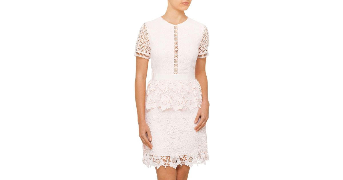 Ted Baker Pink Dixa Layered Lace Skater Dress