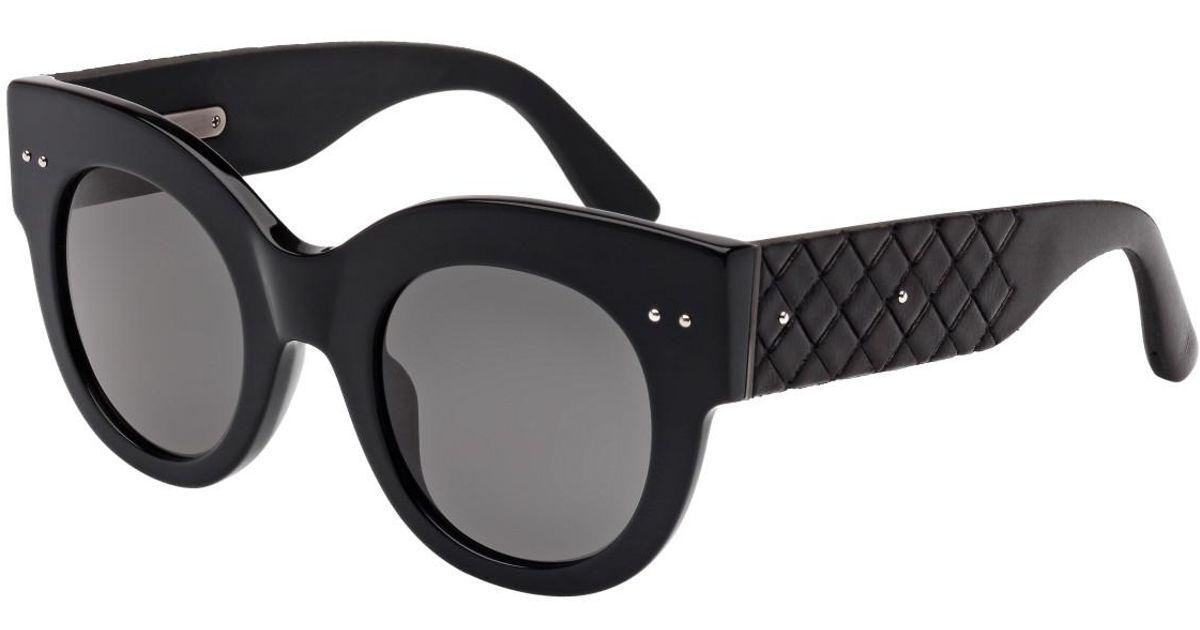ccd80c281a Bottega veneta Bv0008s001 Bold Round Sunglasses in Black