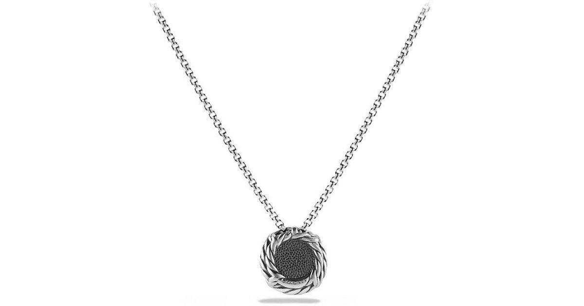 lyst david yurman ch226telaine174 pendant necklace with