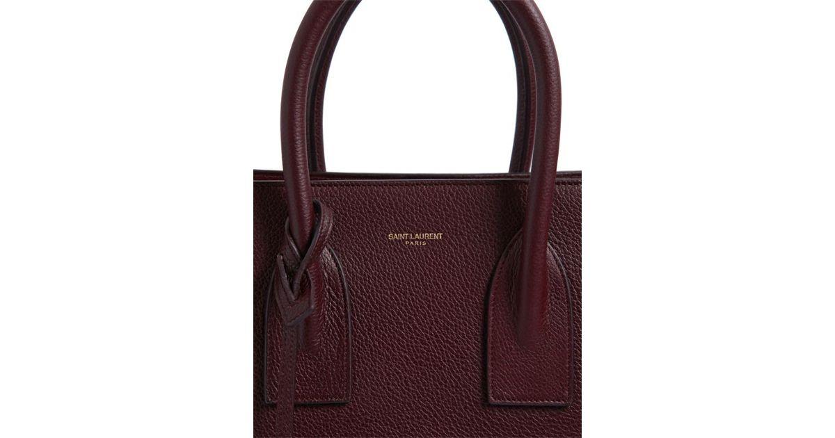4a7c079bf44b Saint Laurent Small Sac De Jour Grained Leather Bag in Purple - Lyst