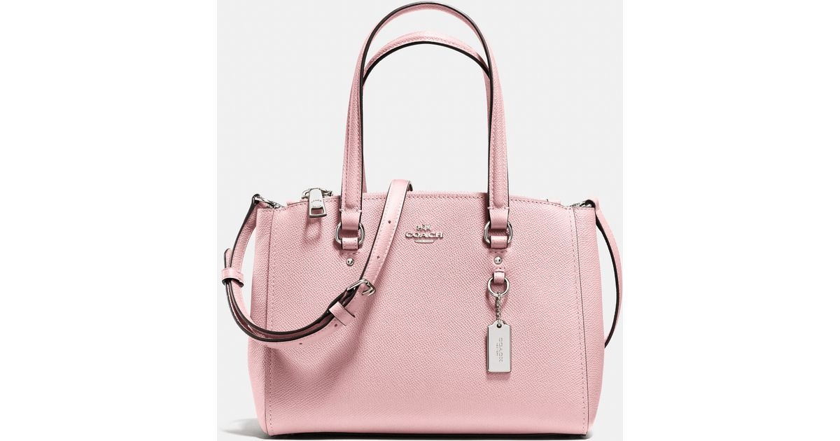 Lyst - COACH Stanton Carryall 26 In Crossgrain Leather in Pink 8f03773141f97