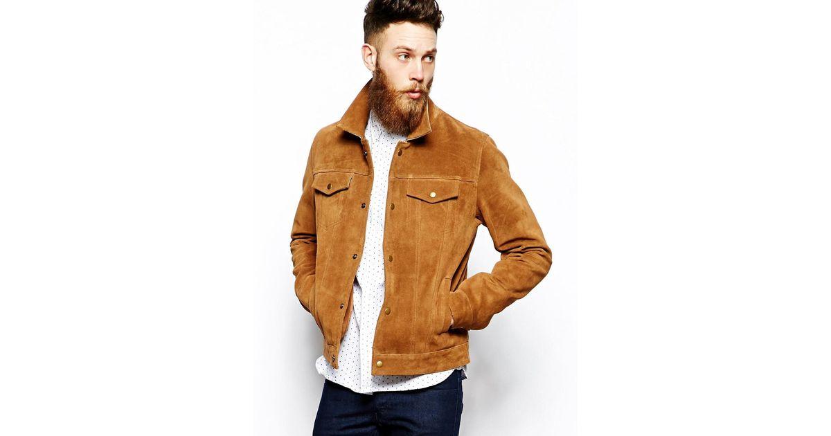 912a7792c ASOS Brown Suede Western Jacket for men