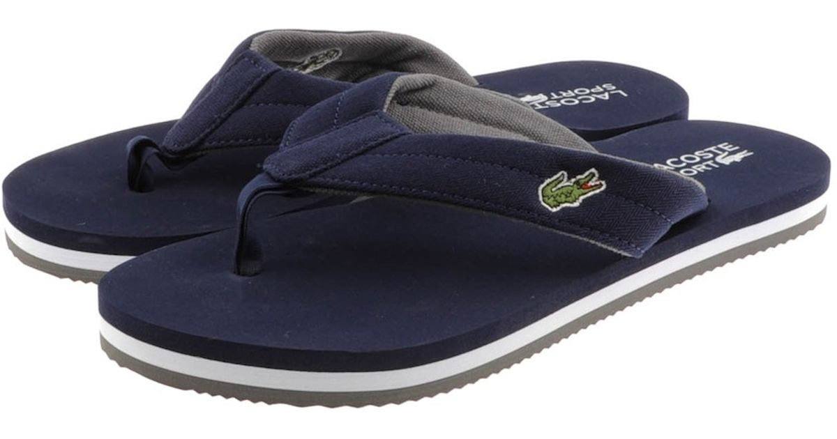 52227a9a0098 Lyst - Lacoste Randle Spm Flip Flops in Blue for Men