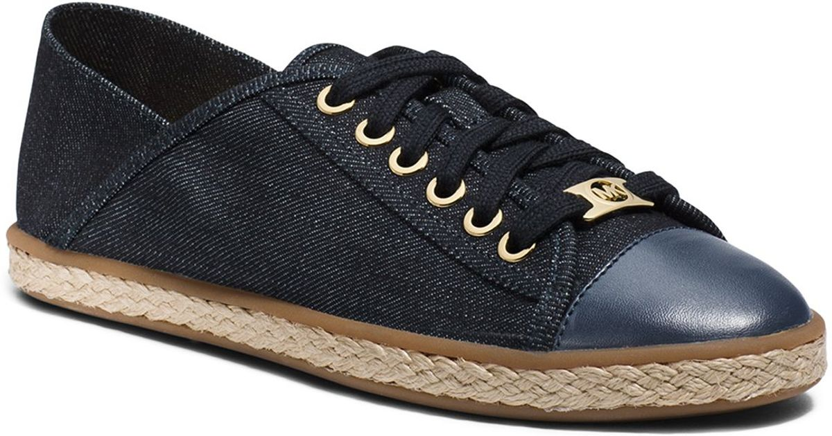 0caedefe62f5 Lyst - MICHAEL Michael Kors Lace Up Sneakers - Kristy Slide in Blue