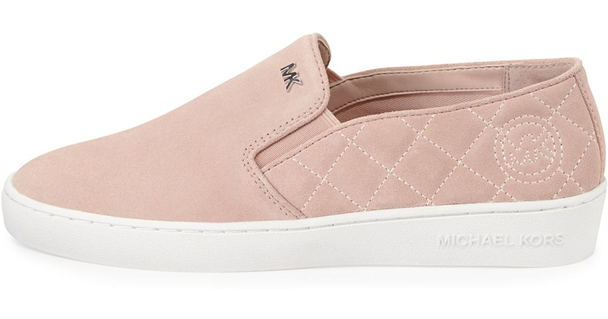 Lyst - Michael michael kors Keaton Quilted Suede Sneaker in Pink : michael kors quilted sneakers - Adamdwight.com