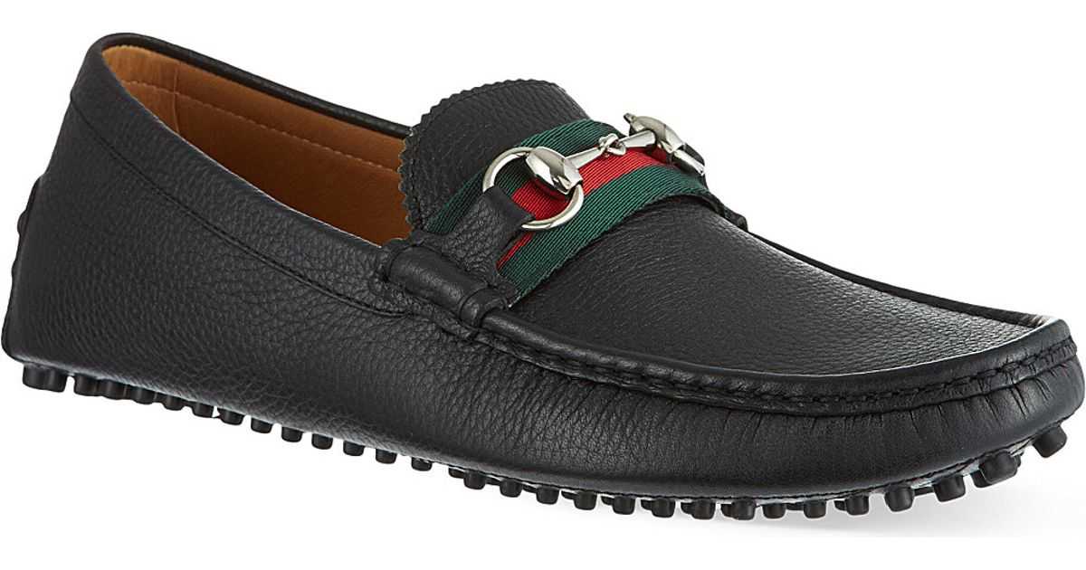 Gucci Black Damo Driving Shoes for men