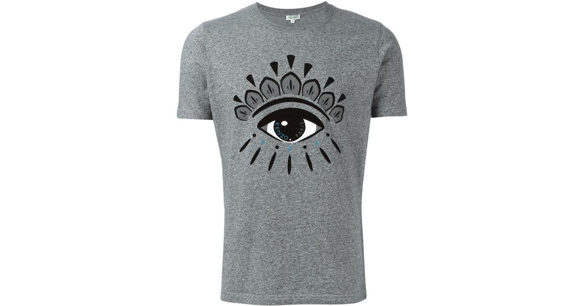 99570ed1 KENZO Big Eye Print T-shirt in Gray for Men - Lyst