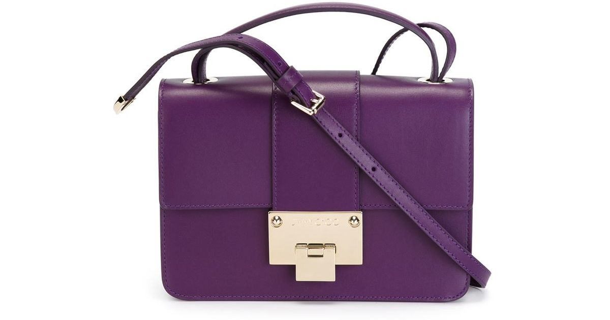 6f4285b201 Jimmy Choo 'rebel' Crossbody Bag in Purple - Lyst