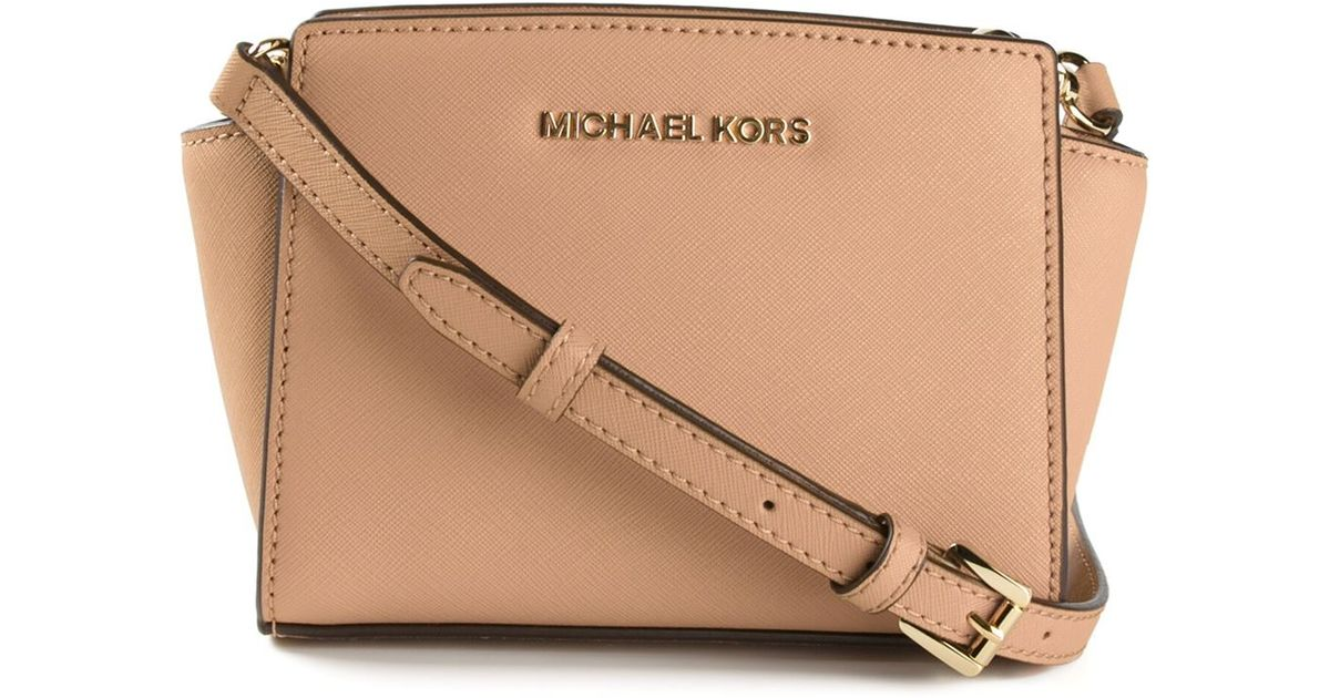 d8837a3b252d MICHAEL Michael Kors Mini Selma Cross Body Bag in Natural - Lyst