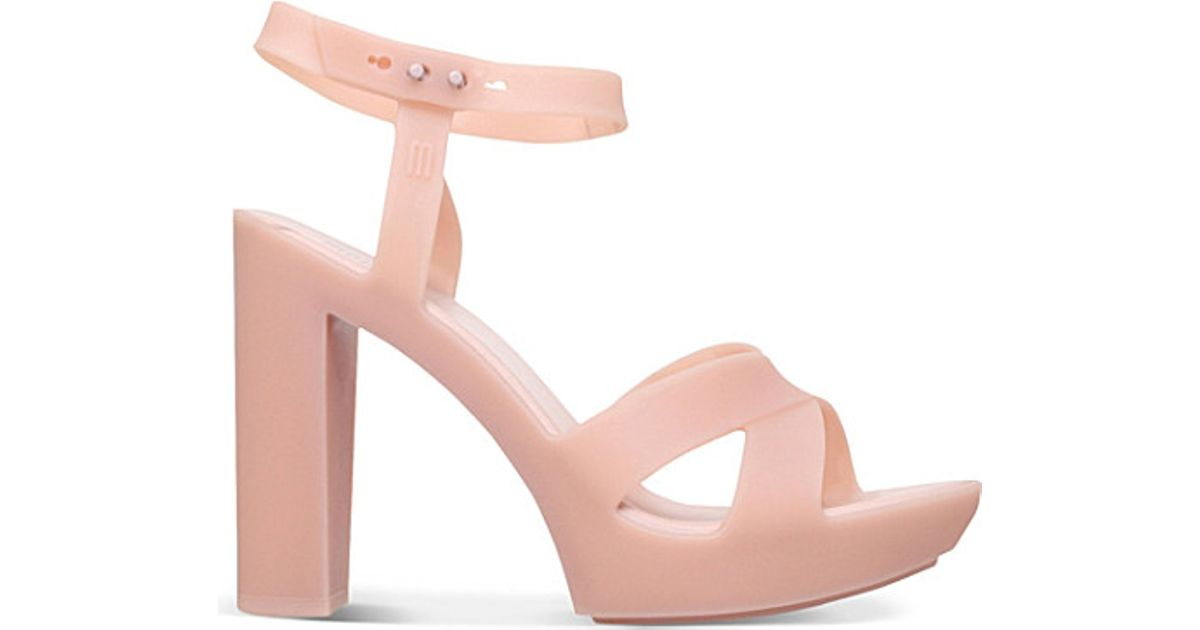 bd59ae493a0 Melissa Pink Classic Lady Pvc Heeled Sandals