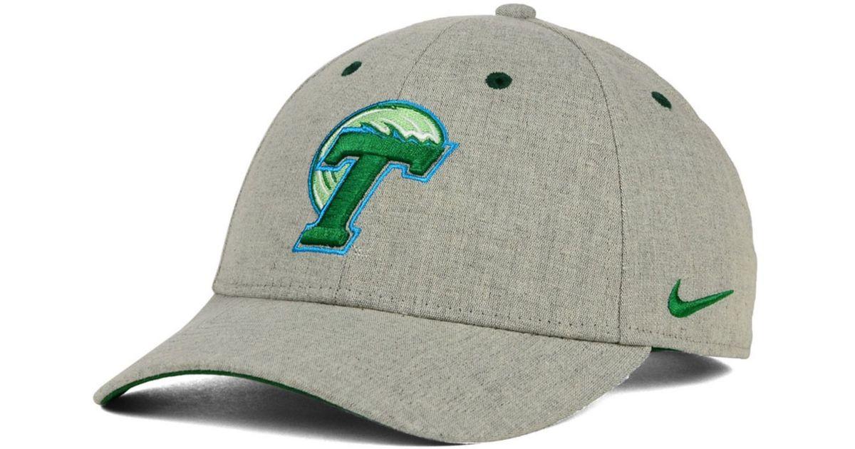 Lyst - Nike Tulane Green Wave Fly Rush Logo Cap in Gray for Men 06e921c9aae