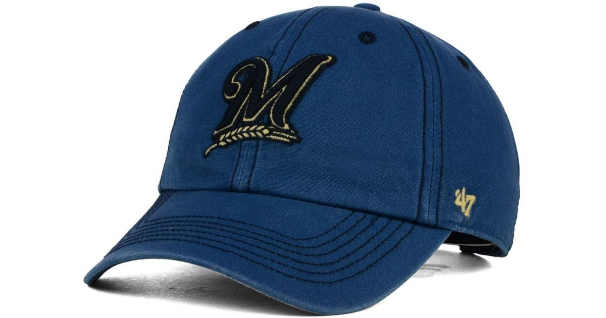 half price hot products quality products 47 Brand Milwaukee Brewers Stillwater Clean Up Cap in Blue for Men ...
