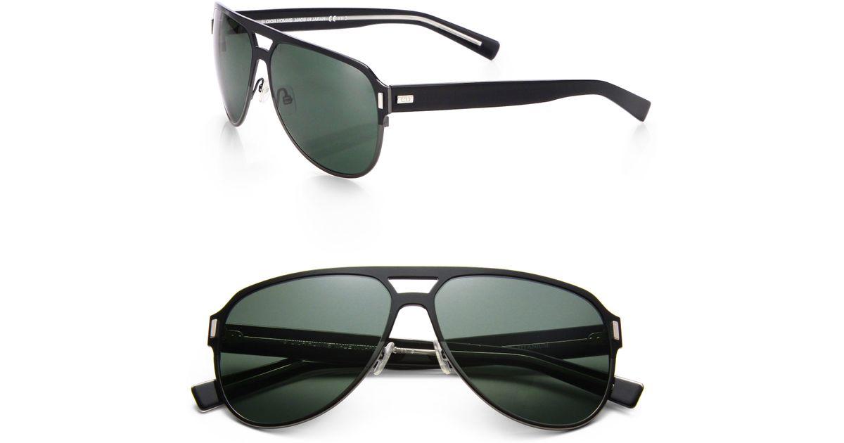 116c819f6 Dior Homme Black Tie Titanium Aviator Sunglasses in Black for Men - Lyst
