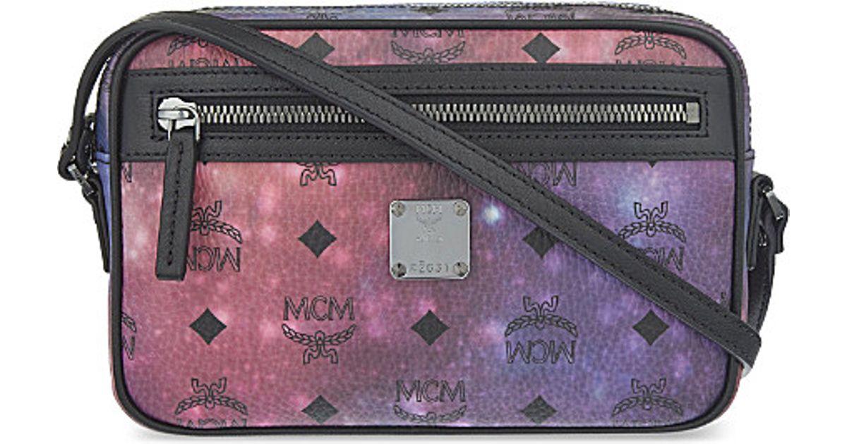 62d5f32a03 MCM Galaxy Logo Print Cross Body Bag - Lyst