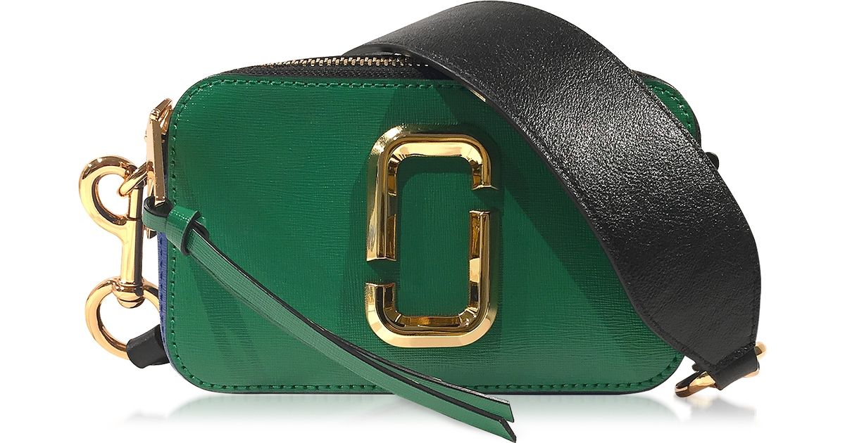 Lyst Marc Jacobs Snapshot Green Grass Saffiano Leather Small Camera Bag In