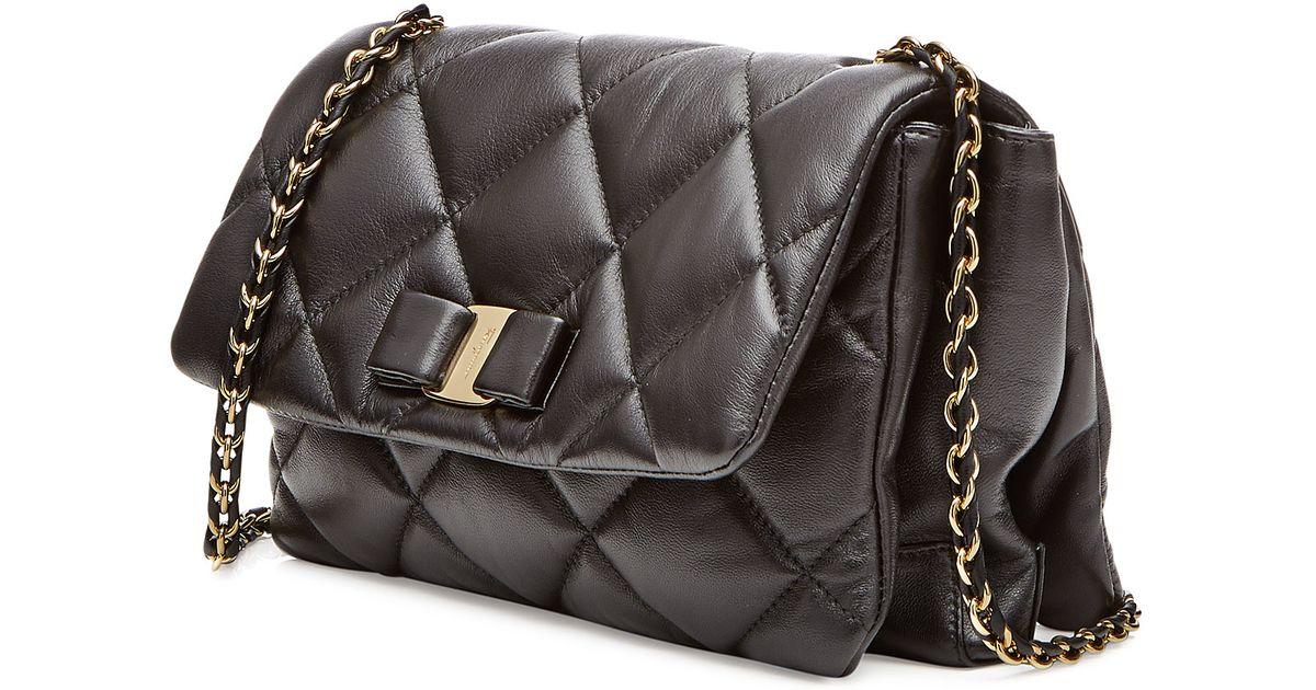 8b0b4a690fd1 Lyst - Ferragamo Quilted Leather Gelly Shoulder Bag - Black in Black