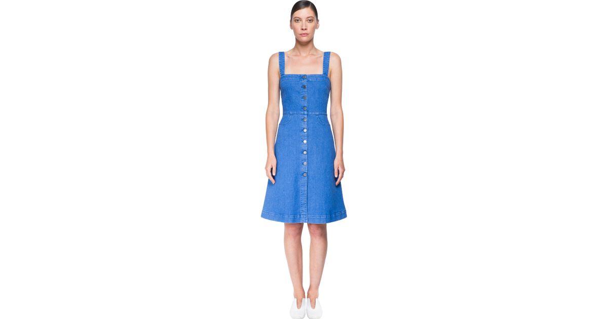 5e1de2a7e1 Stella McCartney Linda Denim Dress in Blue - Lyst
