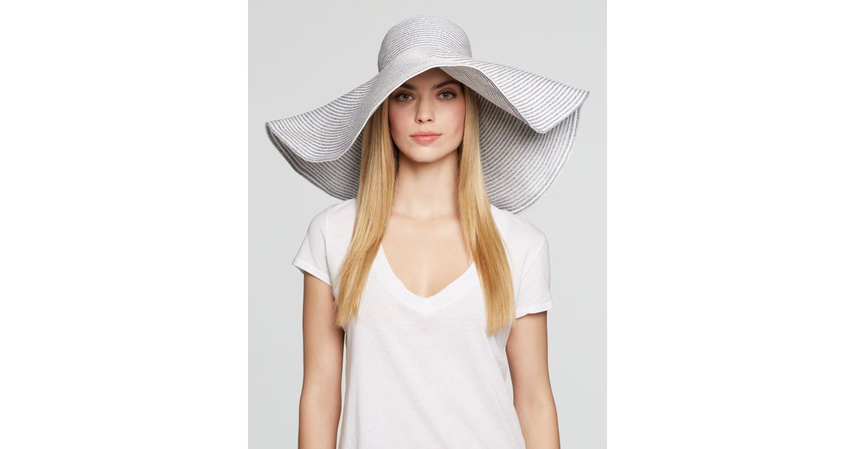 Lyst - Aqua Extra Large Floppy Wired Brim Hat - Bloomingdale\'s ...