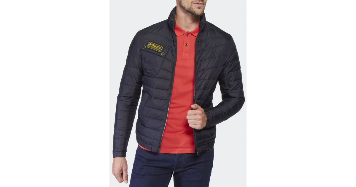 Lyst - Barbour Chain Baffle Quilted Jacket in Black for Men : international quilted jacket - Adamdwight.com