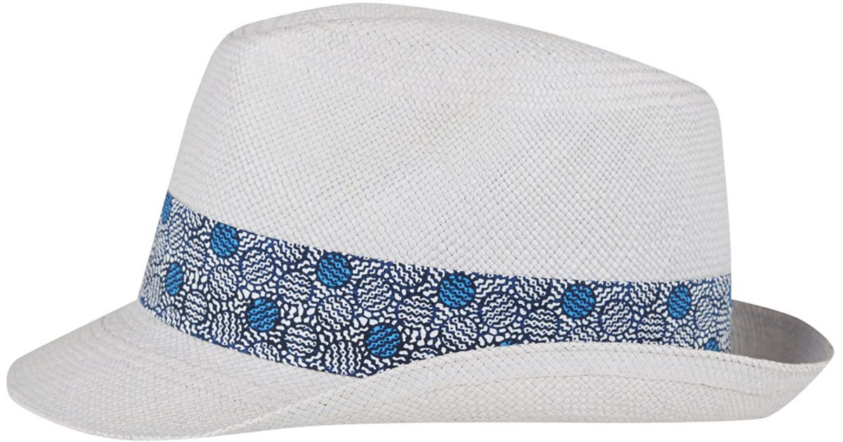 3fb951a80ebd91 Christys' White Yorkie Liberty Print Panama Hat in White - Lyst