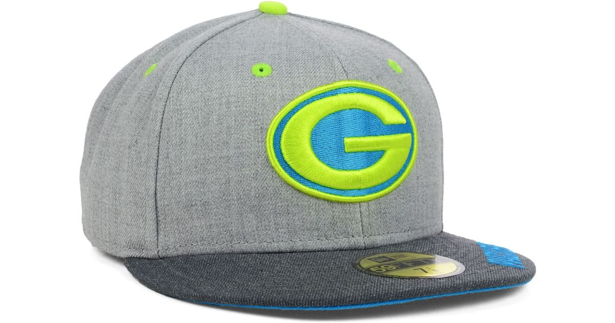 6638e503b02 Lyst - KTZ Green Bay Packers Heather 2tone 59fifty Cap in Gray for Men