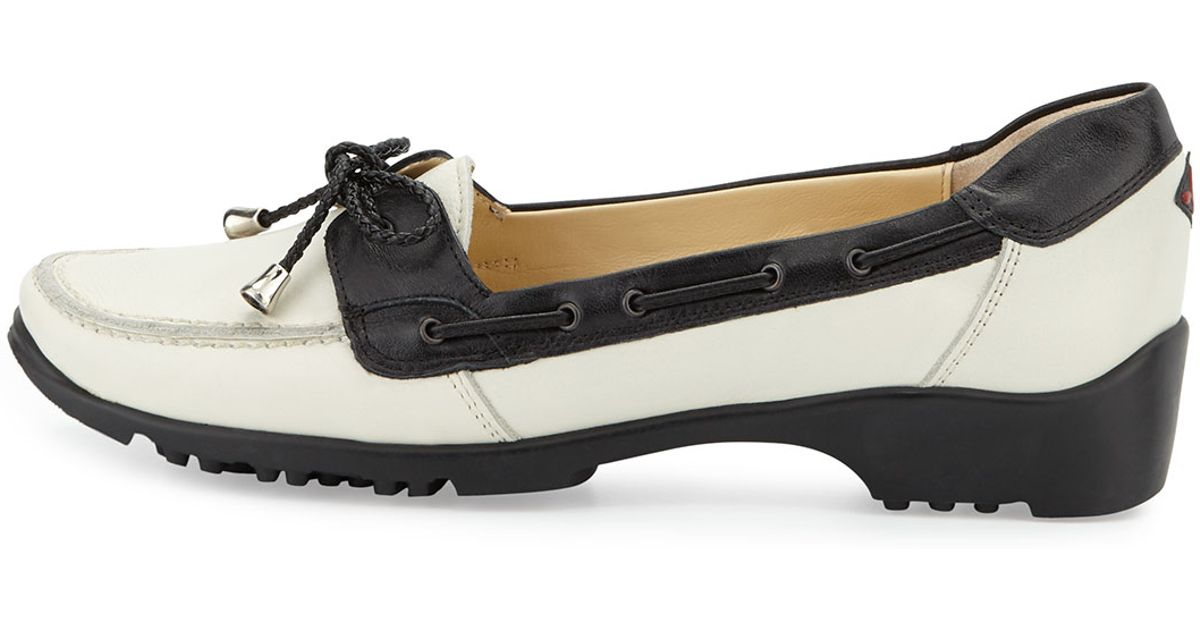sesto meucci greta slip on golf shoe in black lyst