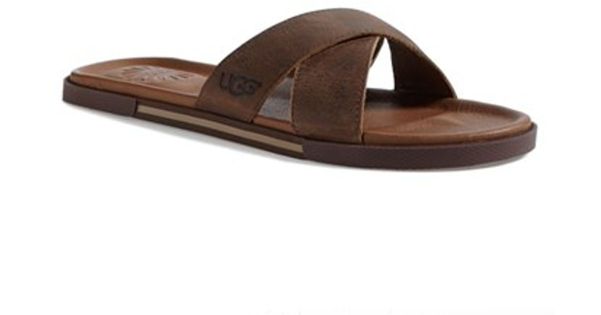 c8e108ed1123 Lyst - UGG  ithan  Slide Sandal in Brown for Men