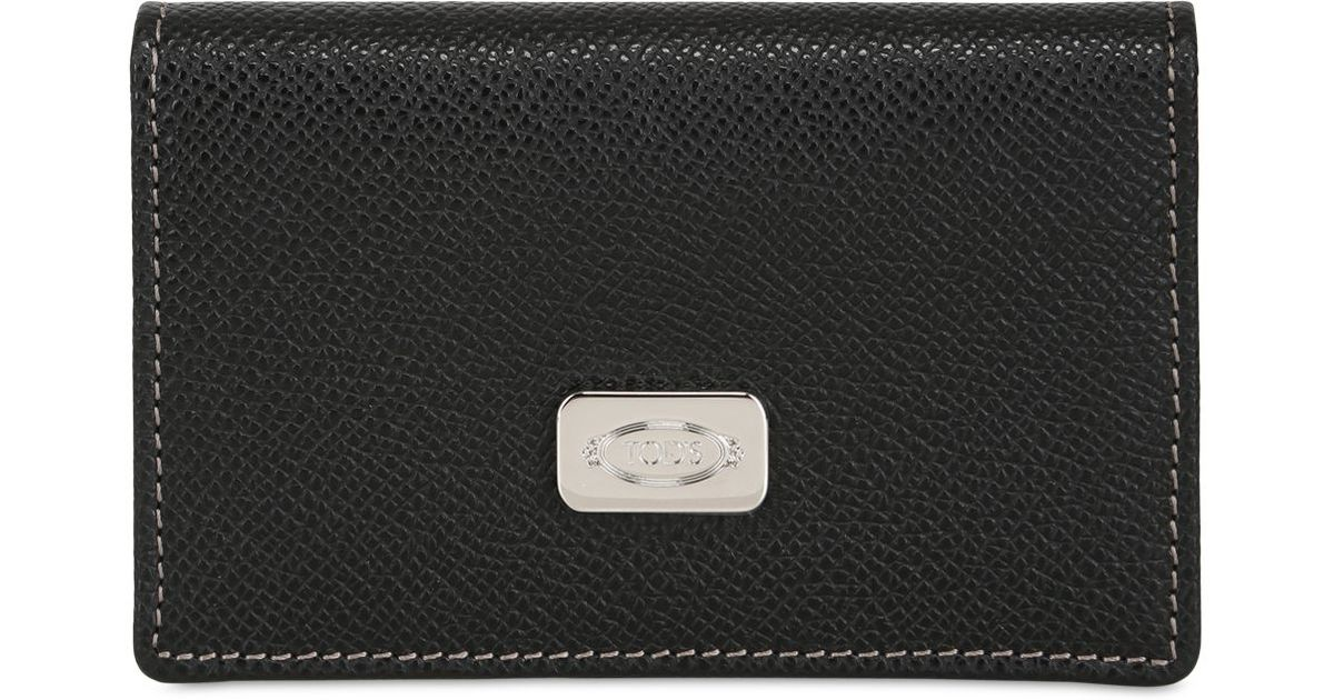 Lyst - Tod\'S Leather Business Card Holder in Black for Men