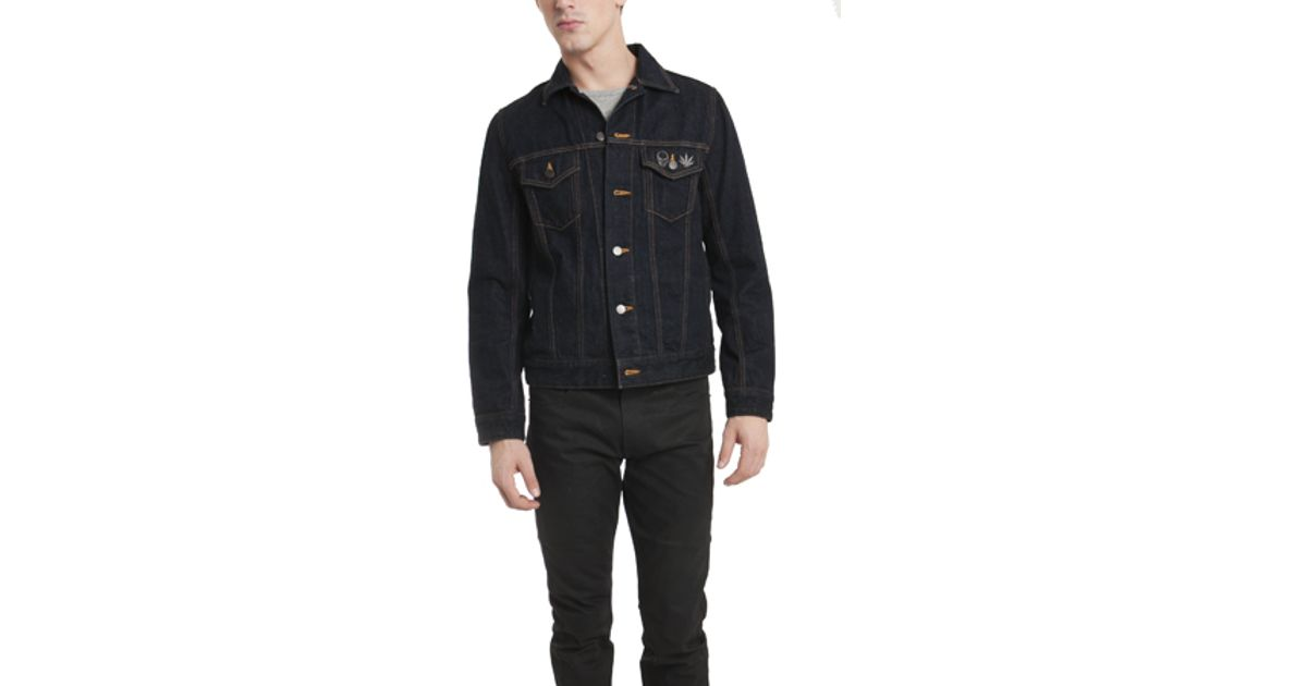 Lucien Pellat Finet Classic Jean Jacket In Black For Men Lyst