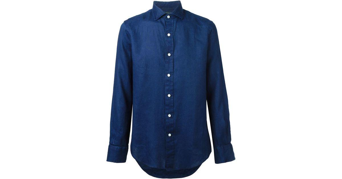 polo ralph lauren classic shirt in blue for men save 35. Black Bedroom Furniture Sets. Home Design Ideas
