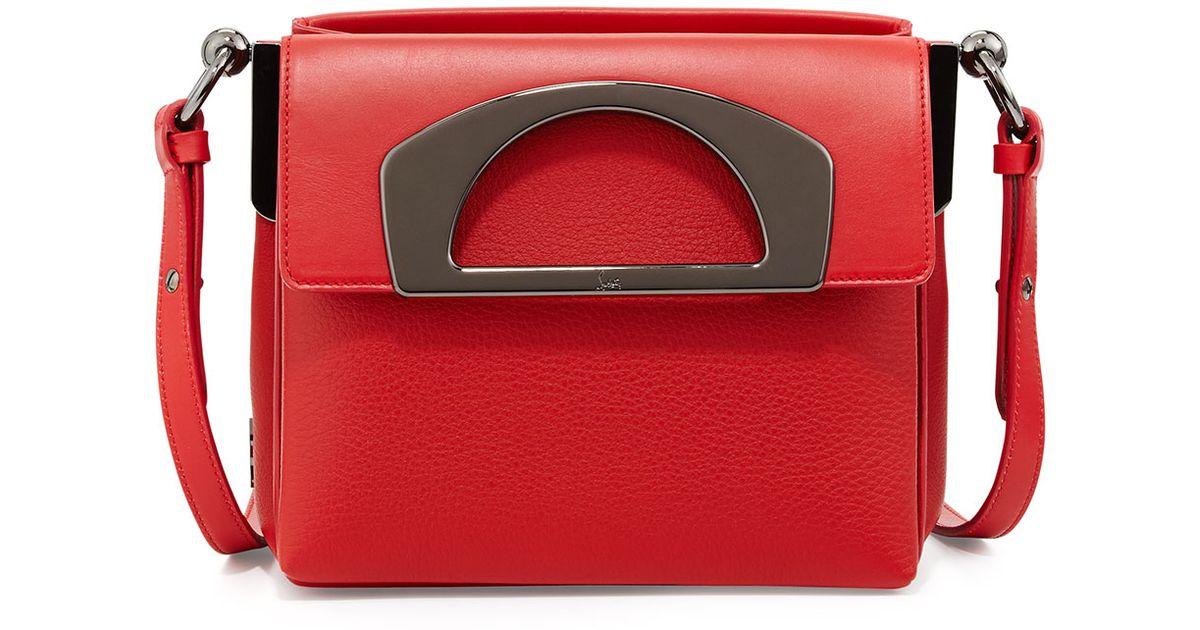 dd69679eea3 Christian Louboutin - Red Mini Passage Leather Crossbody Bag - Lyst